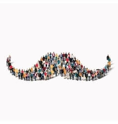 People shape mustache hipster vector