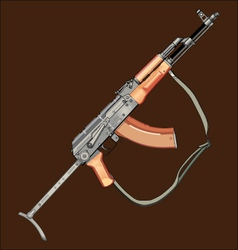 Realistic ak47 gun vector