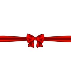 Red ribbon with bow on white background vector