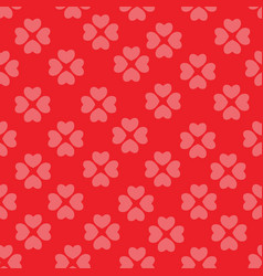 seamless pattern with flower of hearts background vector image vector image
