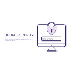 security online business concept data protection vector image vector image