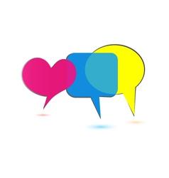 speech bubbles social media logo vector image vector image