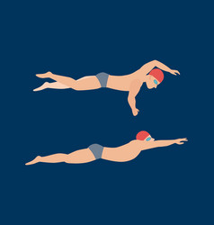 Swimming style scheme vector