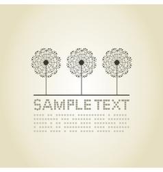 Three dandelions vector image vector image