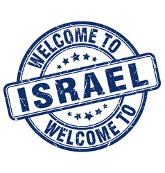 Welcome to israel vector
