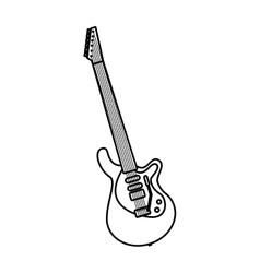 Electric guitar instrument icon vector