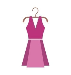Dress on a wooden hanger vector