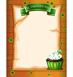 A stationery designed for st patricks day vector