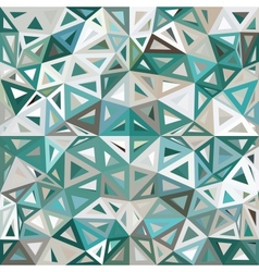 Blue and gray mottled abstract triangles vector