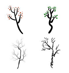 Deer antlers isolated on white set of vector