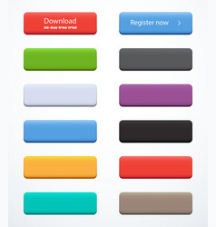 Set of rectangle buttons vector