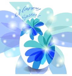 Easter card egg with wishes vector image