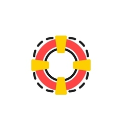 Color line icon for flat design lifebuoy vector