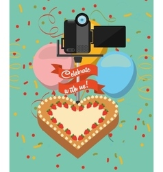 Photographic hobby design vector