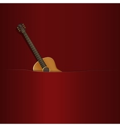 Acoustic guitar in your pocket vector