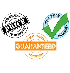 Price match guarantee sticker icons vector