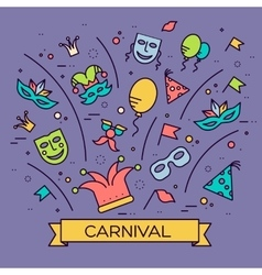 Celebration festival holiday party equipment thin vector