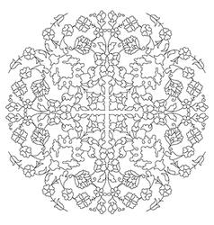 Artistic ottoman line pattern series twenty nine vector