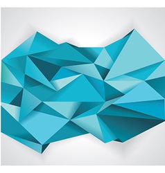Background paper blue folded WT vector image vector image