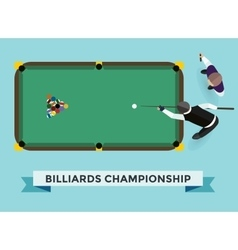 Billiard game champion vector