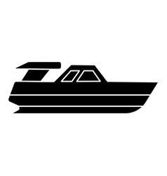 boat launch - yacht icon vector image vector image