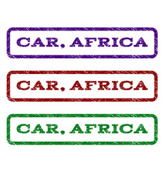 Car africa watermark stamp vector