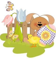 Cute Easter vector image