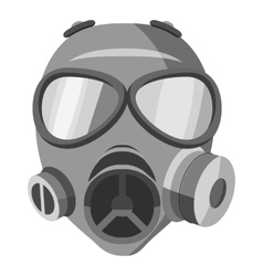 Gas mask icon gray monochrome style vector
