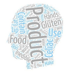 Gluten inedible products text background wordcloud vector