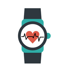 Heart rate wrist monitor icon image vector