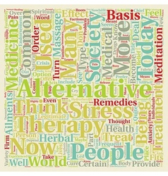 How alternative medicine fits into today s society vector