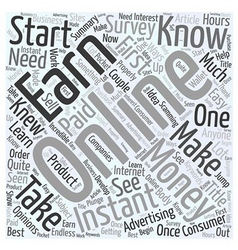 How to earn instant money online word cloud vector