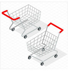 isometric shopping cart vector image