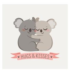Koala hug vector image vector image