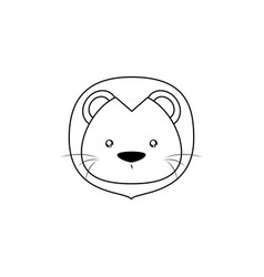Lion drawing face vector