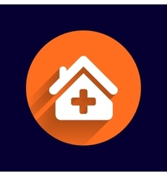 Medical hospital sign icon Home medicine symbol vector image vector image