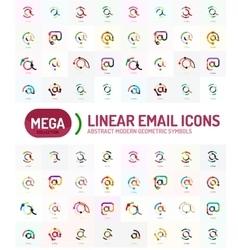 Mega set of email logos vector
