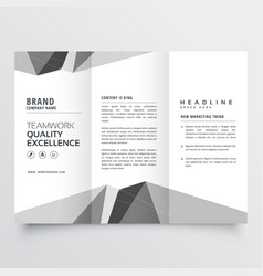Minimal gray trifold brochure design template vector