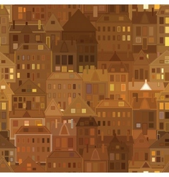 Night city background vintage houses vector image