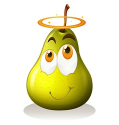 Pear with happy face vector