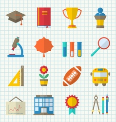 School colorful icons vector
