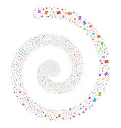 Script roll fireworks spiral vector