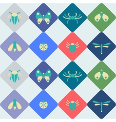 Seamless background with bugs and insects for your vector