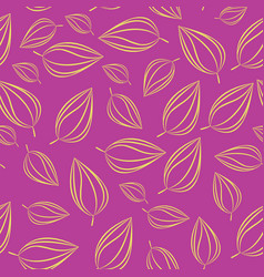 Seamless pattern background with autumn leaves vector