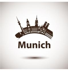 Silhouette of munich city skyline vector