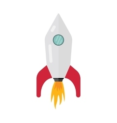 Space rocket ship start vector image vector image