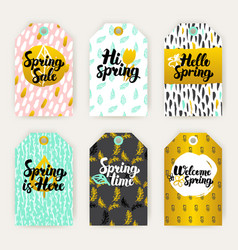Spring time gift labels vector