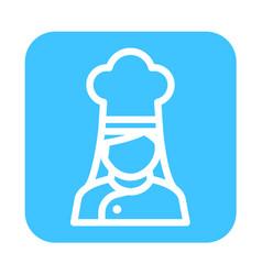 Thin line chef icon vector