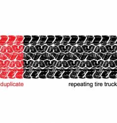 tire truck vector image