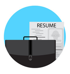 unemployment icon flat vector image vector image